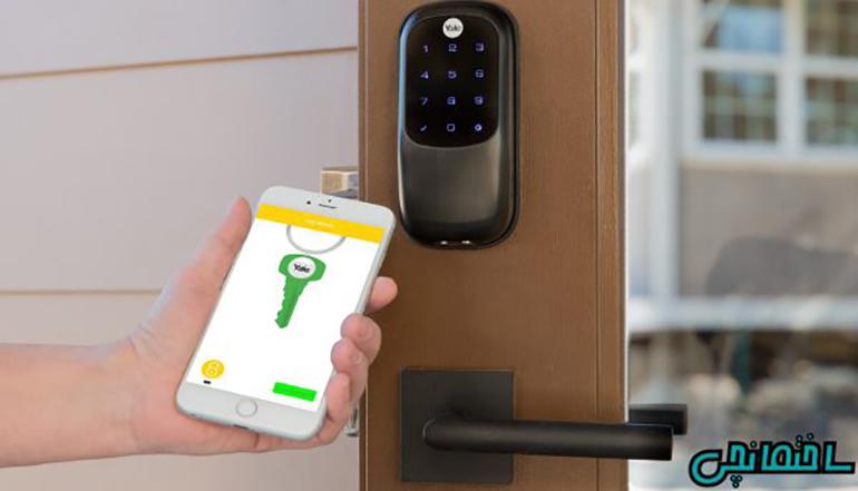 قفل دیجیتال مجهز به سیستم همگام سازی باتلفن همراه
