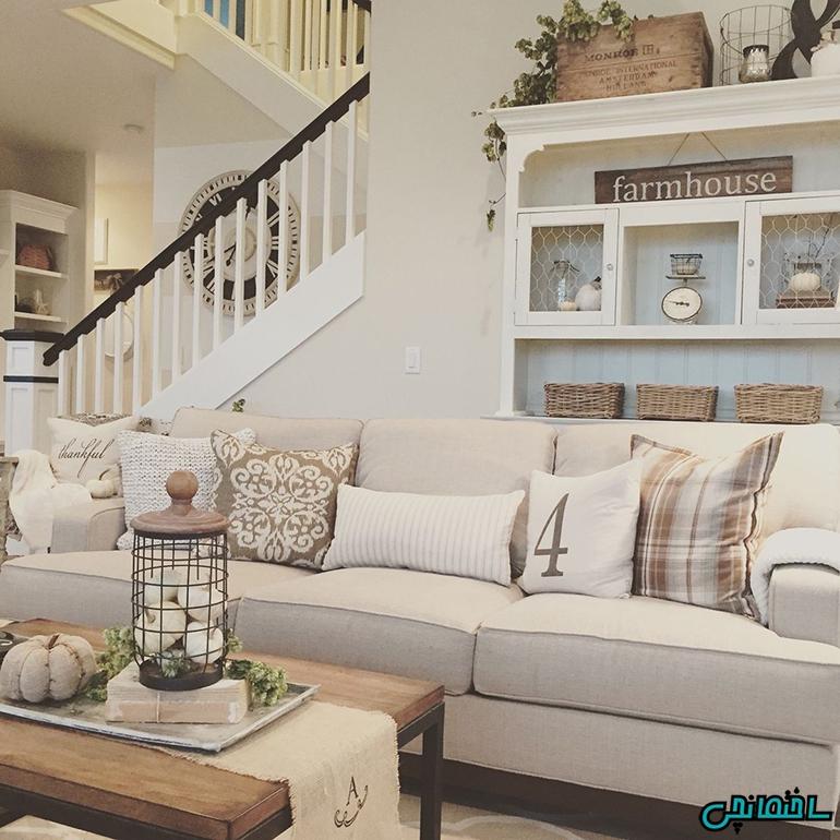 %عکس - طراحی خانه با استفاده از رنگ های روشن