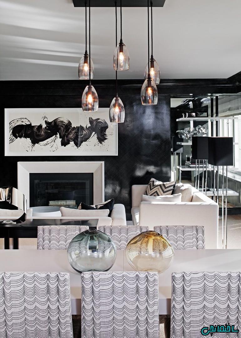 %عکس - استفاده از رنگ های سیاه و سفید در طراحی داخلی