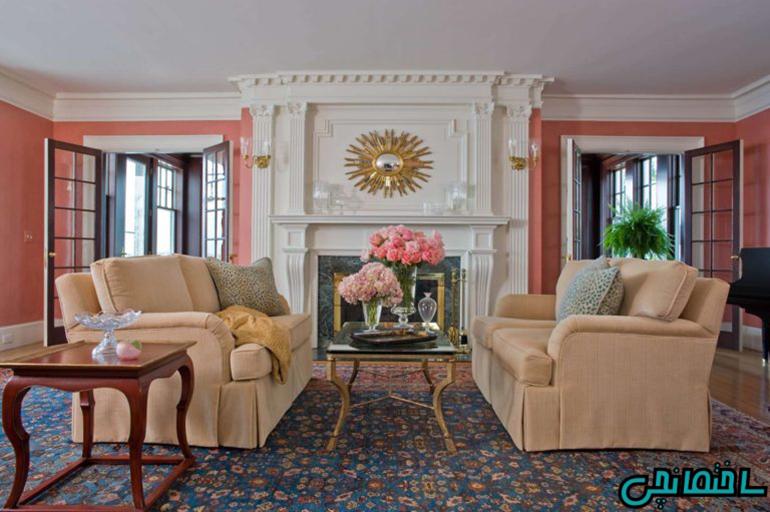 %عکس - تاثیر رنگ مرجانی در دکوراسیون داخلی منزل