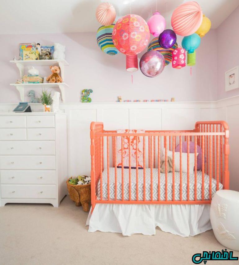 استفاده از رنگ مرجانی در اتاق کودک