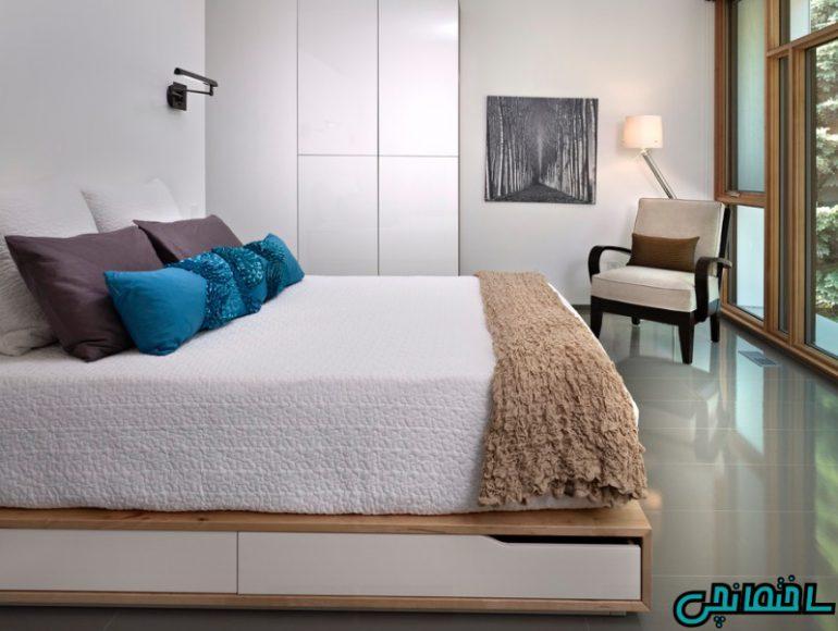 فضای ذخیره در زیر تخت خواب