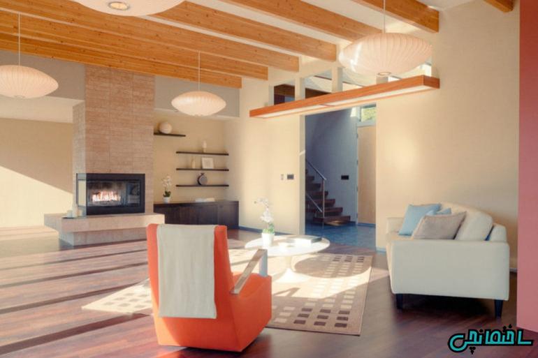 %عکس - رنگ هلویی در طراحی دکوراسیون منزل