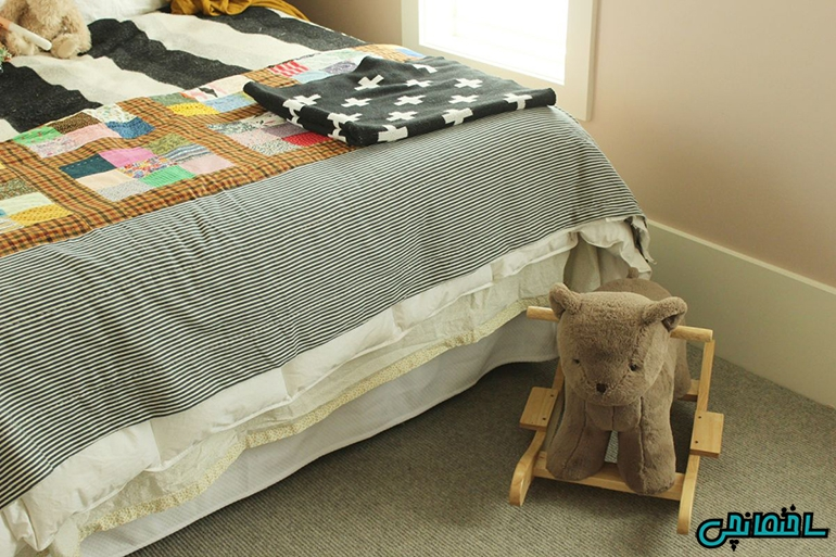 استفاده از رو تختی زیبا
