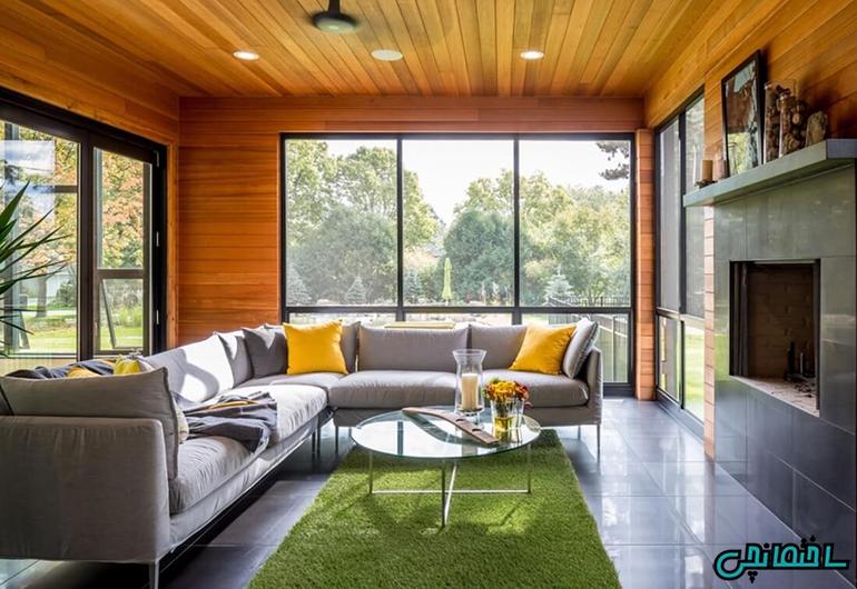 %عکس - کاربرد پانل های چوبی در طراحی داخلی
