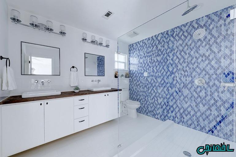 ترکیب رنگ های سفید و آبی