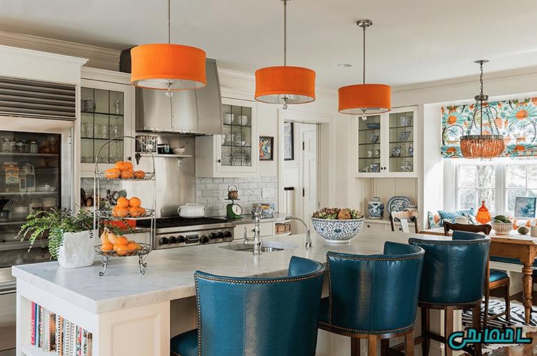 ترکیب طیف رنگ آبی و نارنجی