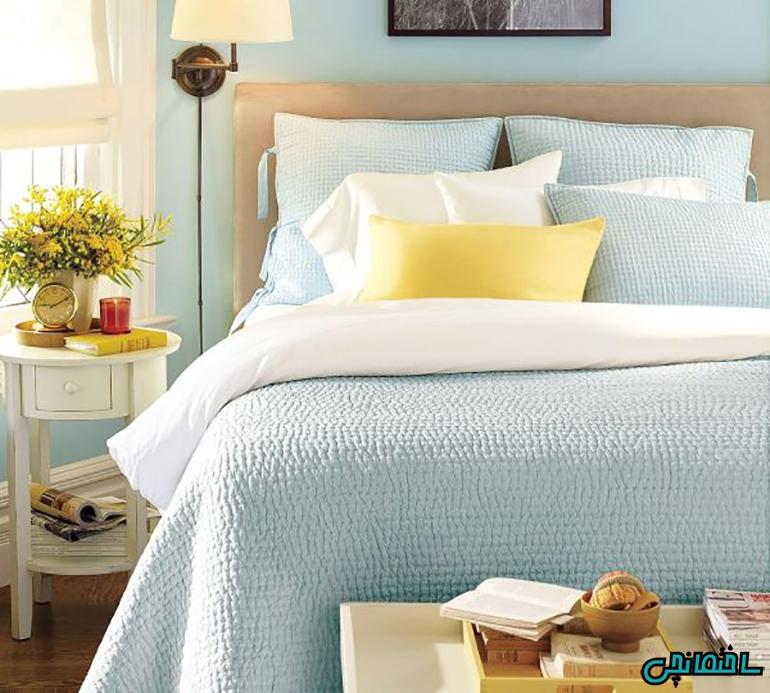 ترکیب رنگ زرد با آبی