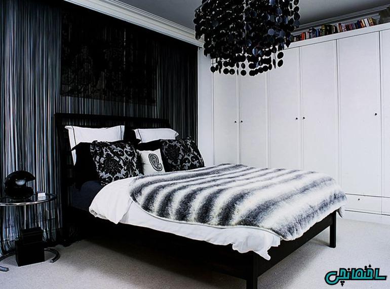 رنگ سیاه و سفید در طراحی اتاق مینیمالیست