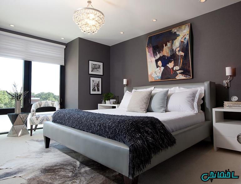 اتاق خواب تیره رنگ