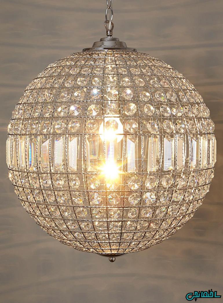 نورپردازی اتاق خواب با چراغ های آویز