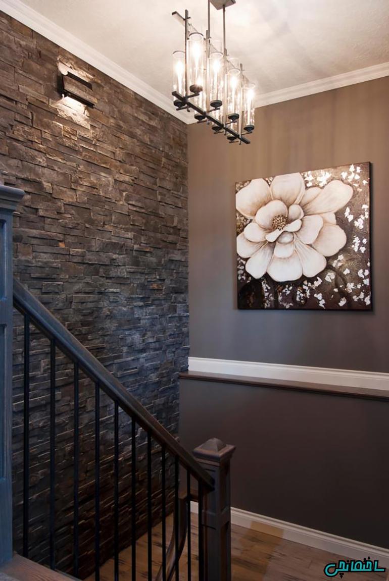 استفاده از سنگ طبیعی برای طراحی دیوار غالب