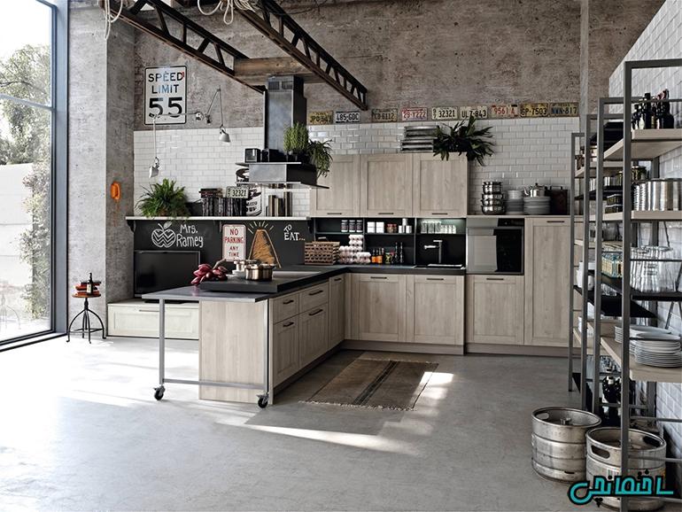 آشپزخانه مدرن زیبا