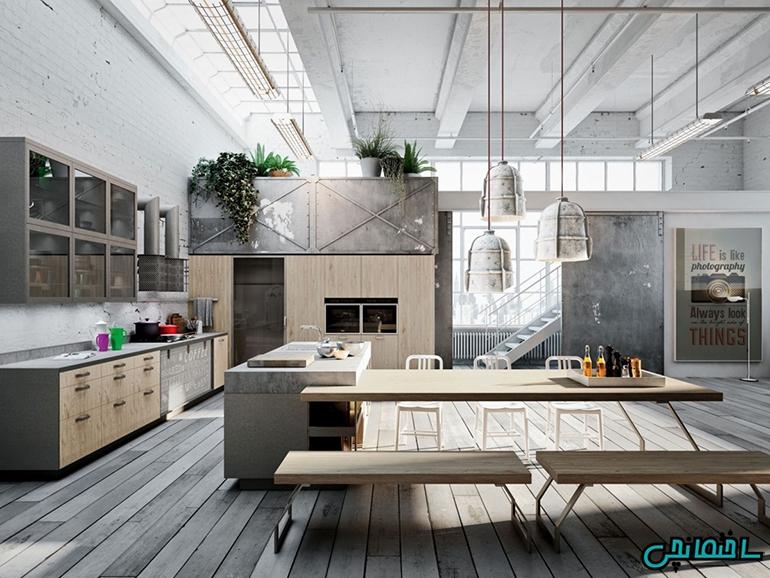 %عکس - جذابترین ایده های طراحی آشپزخانه[ال،لوکس،مدرن،مینیمالیسم و…]