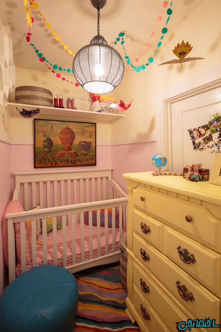 %عکس - استفاده از فضاهای پرت در اتاق کودک