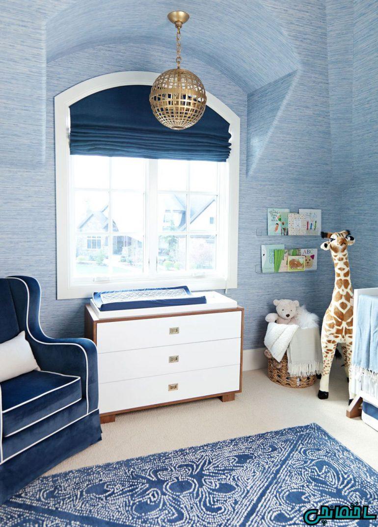رنگ آبی در اتاق خواب