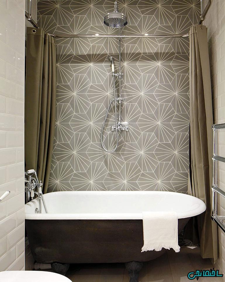 استفاده از کاشی های جذاب در طراحی حمام