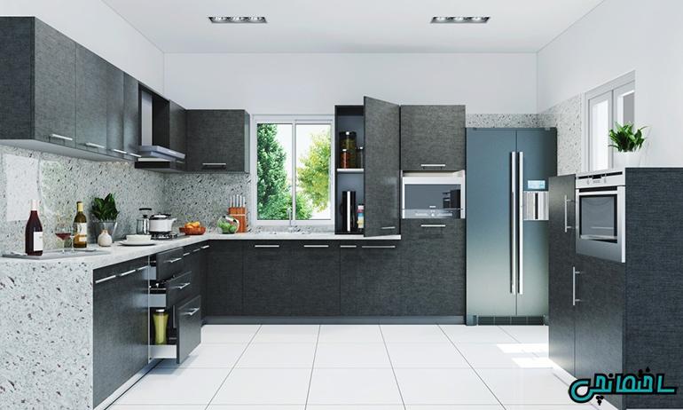 %عکس - ایده های طراحی آشپزخانه شیک