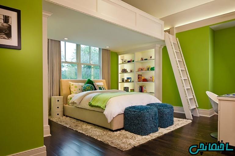 استفاده از رنگ سبز روشن