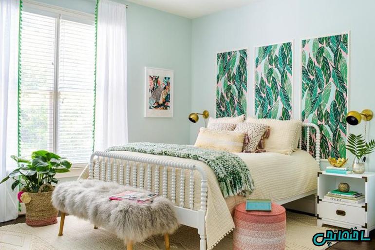 استفاده از رنگ سبز در اتاق خواب