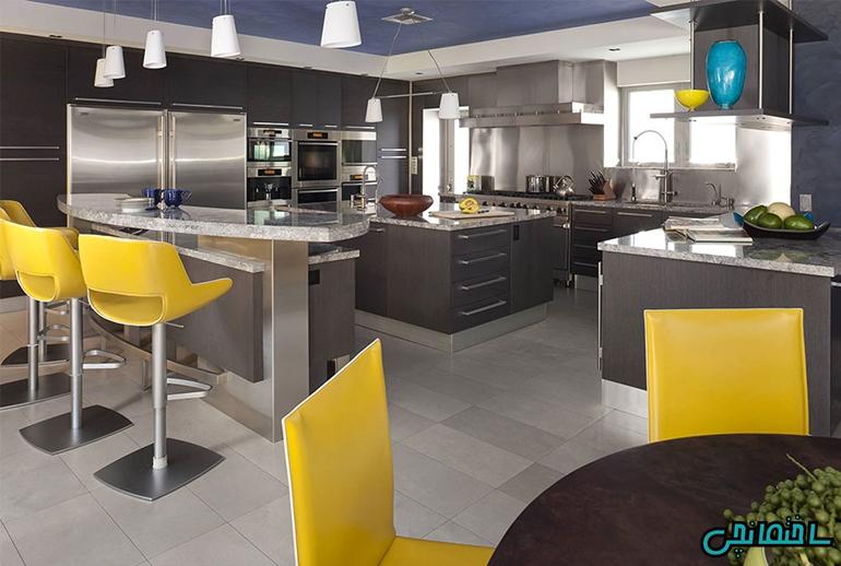 %عکس - راهکارهای استفاده از رنگ زرد در طراحی آشپزخانه