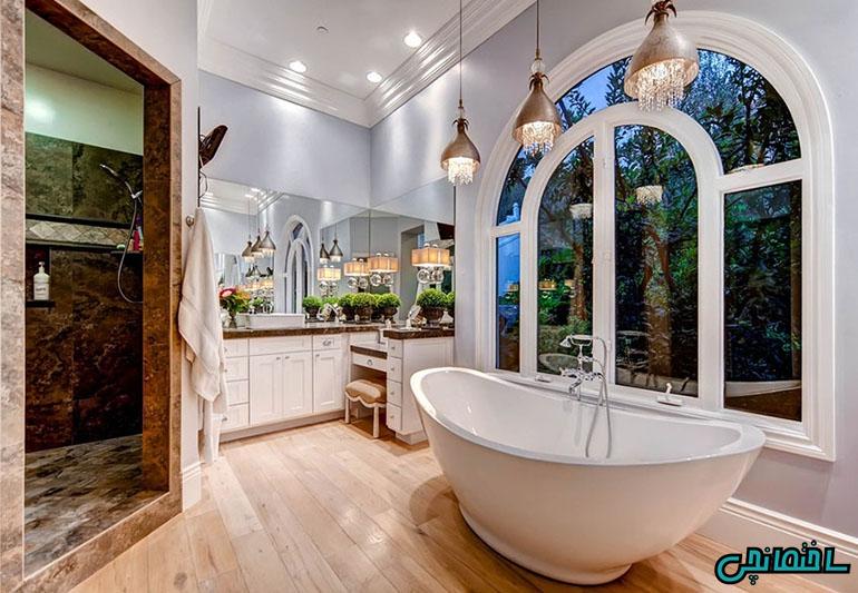 نورپردازی حمام و سرویس بهداشتی