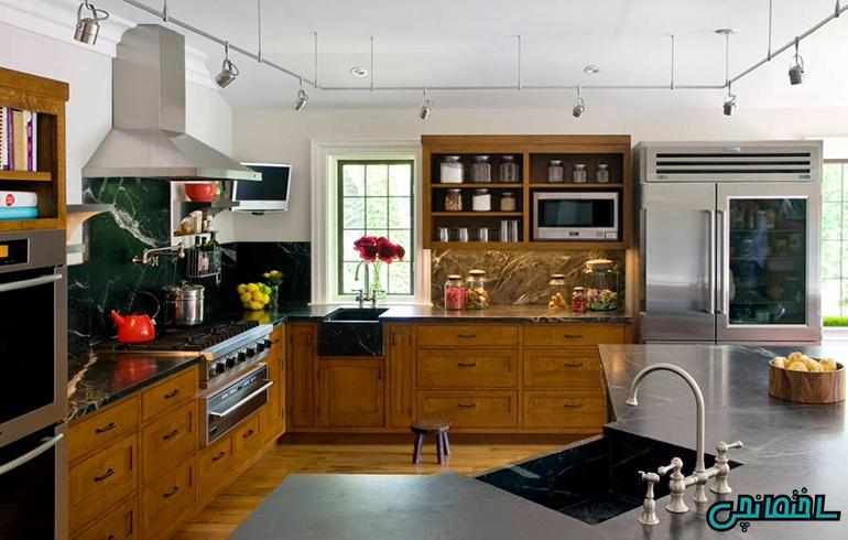 %عکس - ایده های نورپردازی آشپزخانه[جدیدترین عکس ها و نمونه های مدرن]