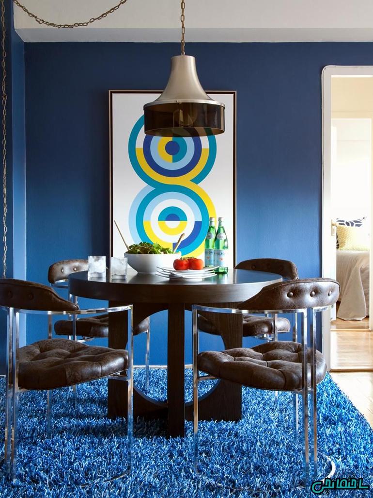 استفاده از رنگ آبی نیلی