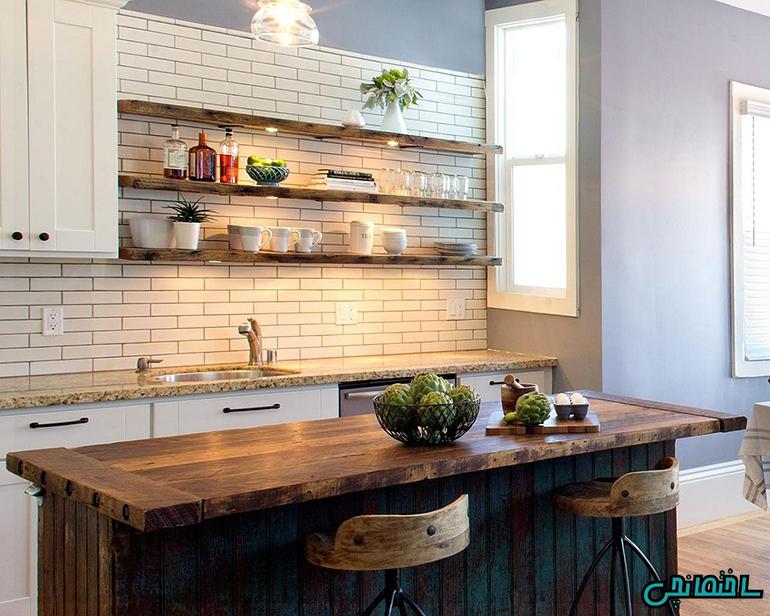 استفاده از چوب در طراحی آشپزخانه