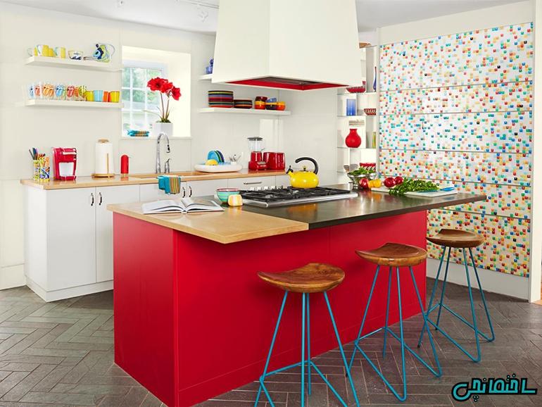 استفاده از تم رنگی در طراحی آشپزخانه