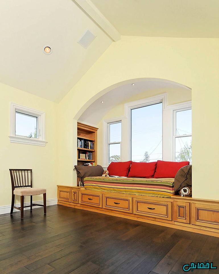 %عکس - ایده های طراحی فضای دنج کنار پنجره