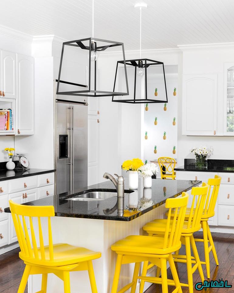 رنگ سفید در طراحی آشپزخانه کوچک