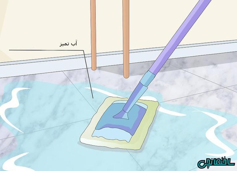 %عکس - چگونه کفپوش سنگ مرمر را تمیز کنیم!