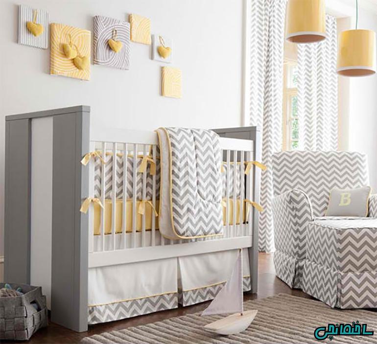 ترکیب رنگ های زرد و خاکستری