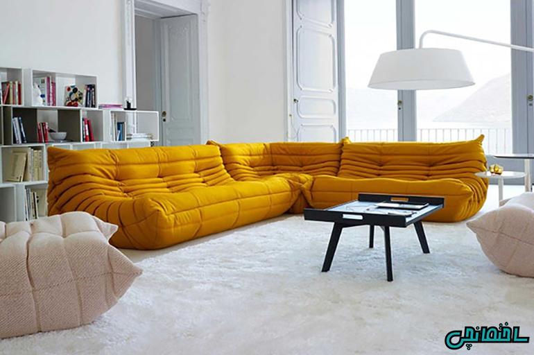 انتخاب کاناپه با رنگ مناسب