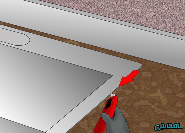 باز کردن اتصالات سینک