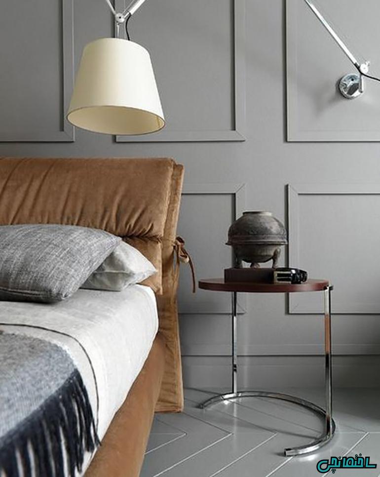 ایده های طراحی اتاق خواب با رنگ خاکستری