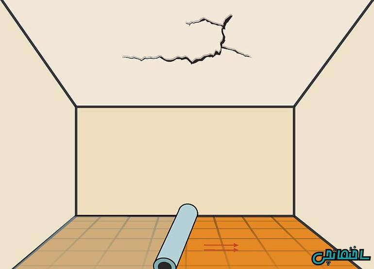 استفاده از یک ورقه پلاستیکی در کف اتاق