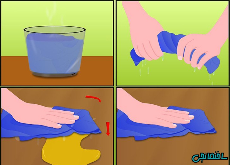 روش اول: استفاده از آب