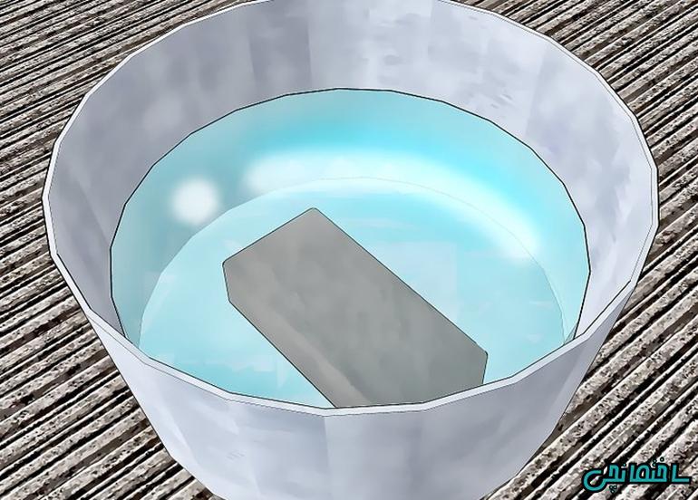 قرار دادن اجر در داخل آب