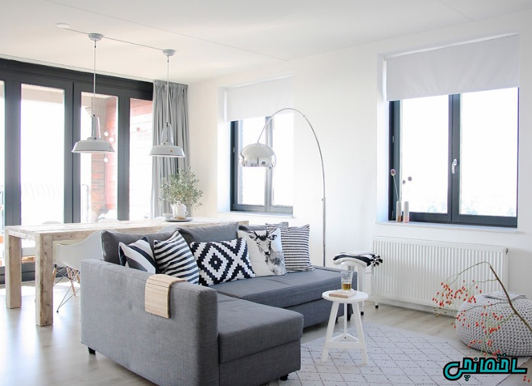 %عکس - طراحی دکوراسیون راهرو و آشپزخانه آپارتمان