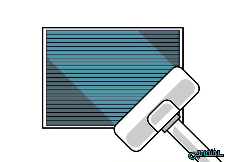 %عکس - چگونه فیلتر سیستم تهویه هوا را تمیز کنیم!