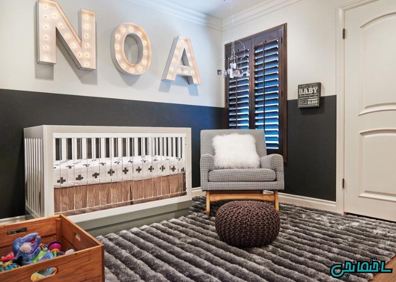 تزئین اتاق با نام کودک
