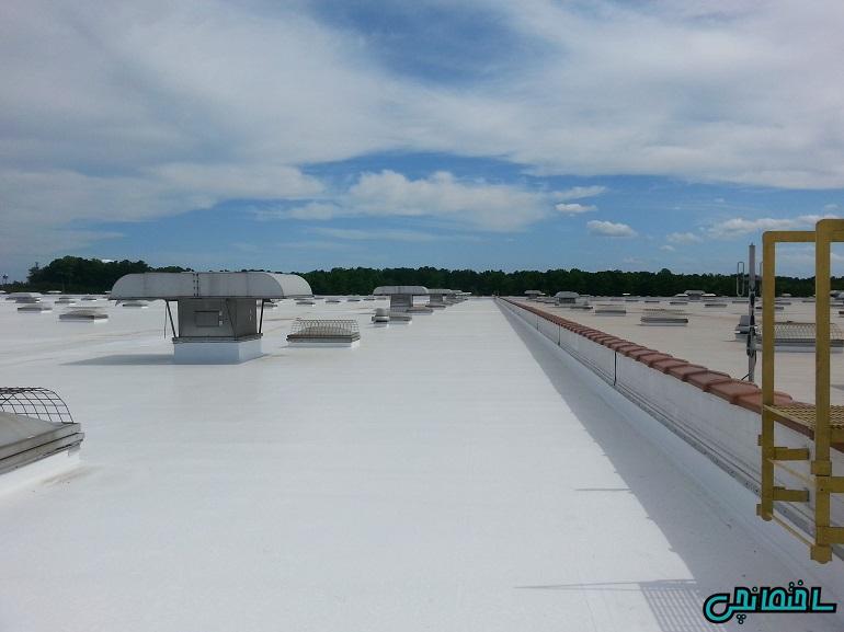 عایق سفید پشت بام