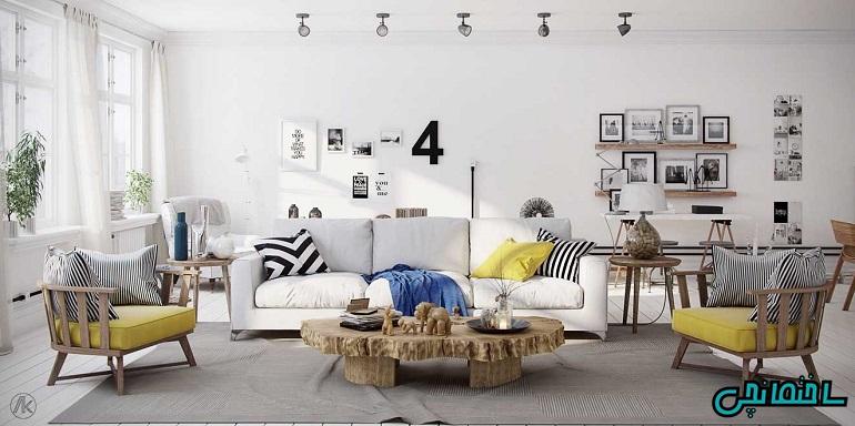 %عکس - خانه ای گرم و صمیمی به سبک مینیمال
