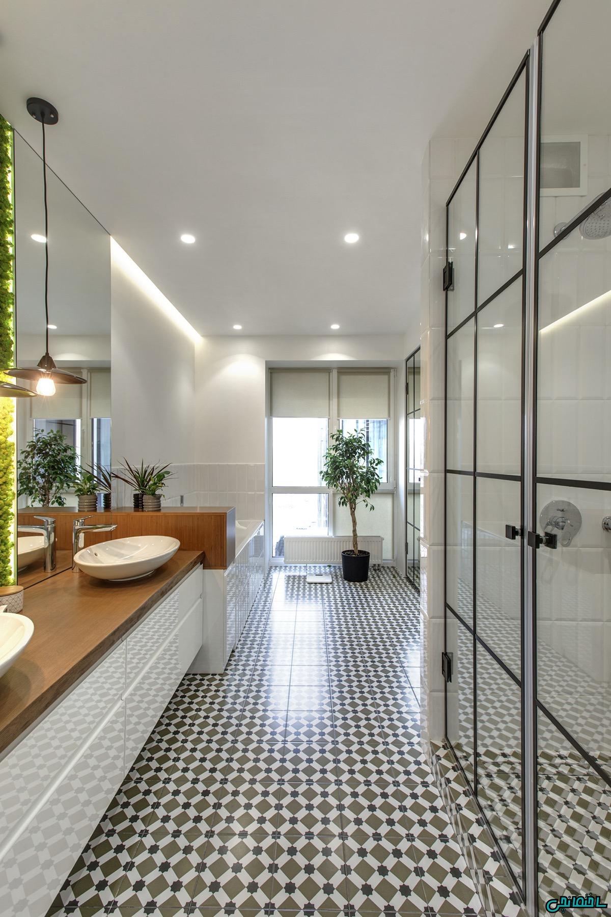 نور پردازی حمام