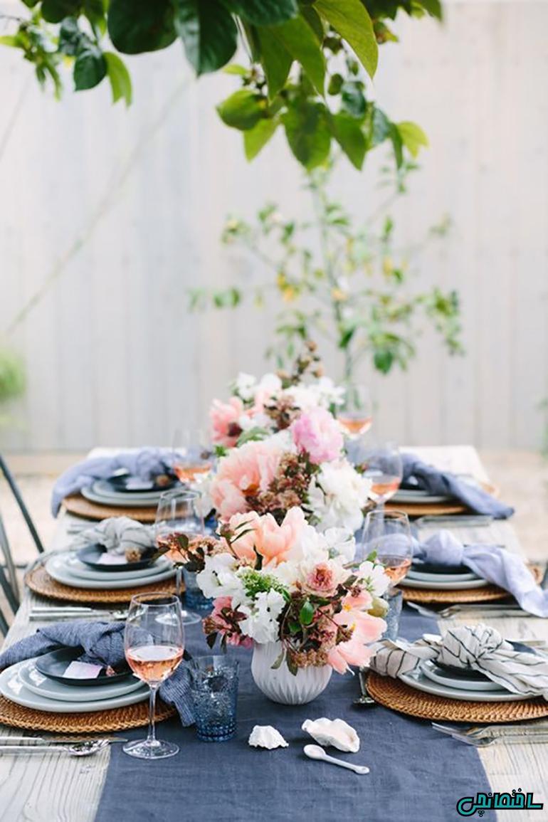15 عکس تزئین میز غذاخوری