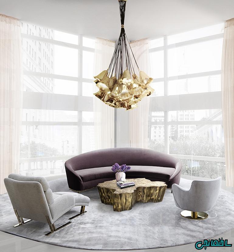 سبکی متفاوت در طراحی اتاق نشیمن