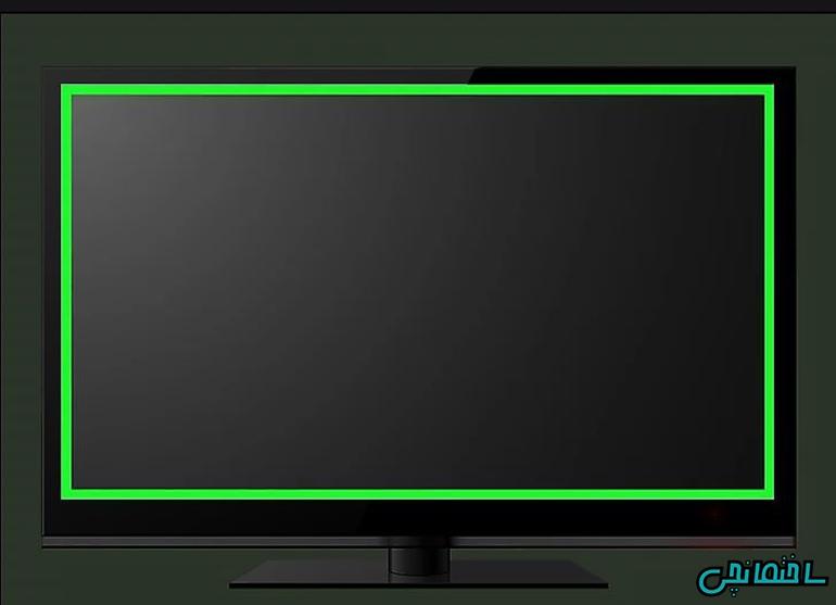 صفحه تلویزیون را خشک کنید