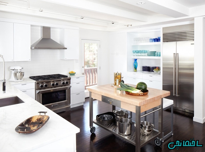 %عکس - انواع جزیره برای آشپزخانه کوچک